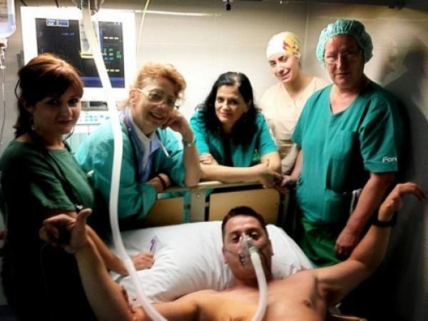 Vlado Georgiev u bolnici