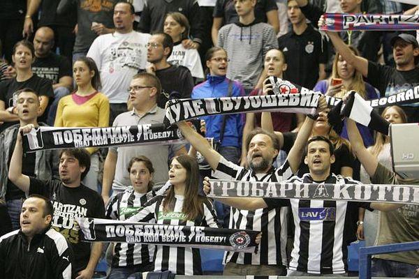 Partizan kažnjen, Evroliga prijeti