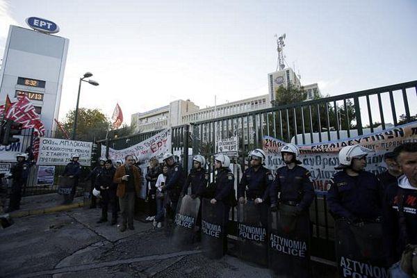 Atina: Policija upala u zgradu TV