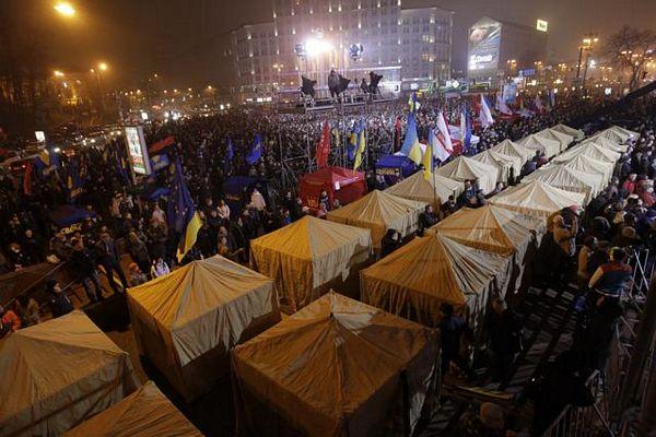 Kijev: Protest i tokom noći