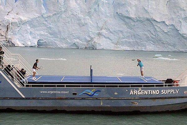 Novak i Nadal ispred glečera
