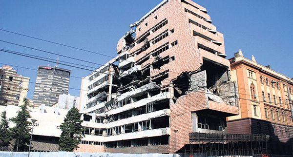 Beograd: Uklanjanju se ruševine zgrade Generalštaba