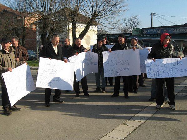 Bratunac: Protest građana zbog Osmanovića