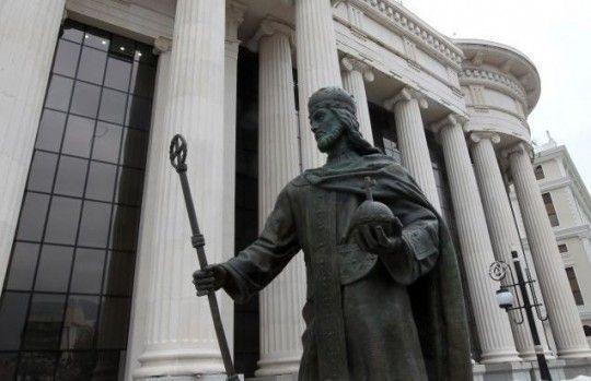 Albance nervira spomenik Cara Dušana u Skoplju