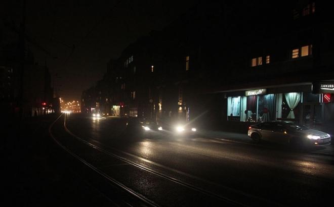 Sarajevske ulice u mraku zbog duga