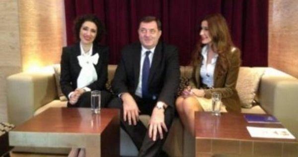 Dodik prekinuo intervju da bi upoznao Doris Dragović