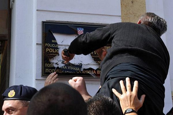 Vukovar: Lupao tablu s ćirilicom
