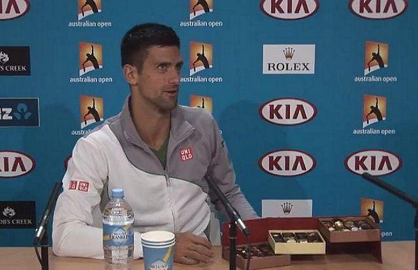 Novak dijelio čokoladice novinarima