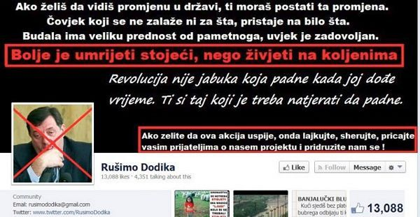 "Banjaluka: Pretresena kuća kreatora Fejsbuk grupe ""Rušimo Dodika"""