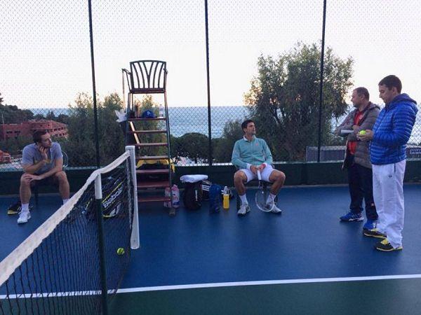 Novak i Viktor treniraju zajedno