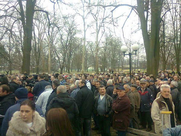 Veliki protest u parku: Borci poručili Ćurguzu da mu je mjesto u zatvoru