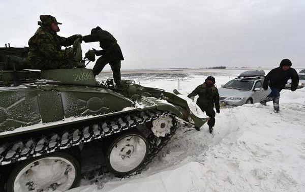 Pomjeren šleper, put prohodan, vojska čisti snijeg