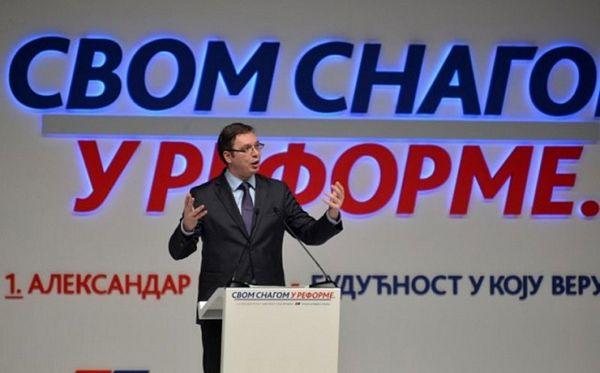 Vučić na bini s neplaniranim učesnikom