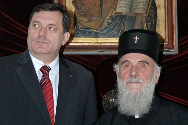 Dodik na prijemu kod patrijarha Irineja