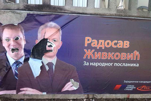 Živković: Uništeni plakati, prijetnja kandidatu
