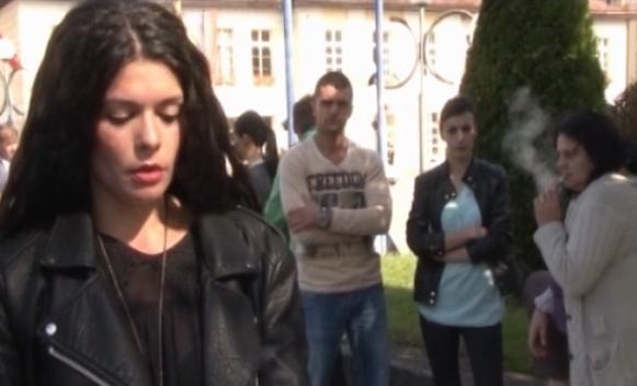 Fočanka protestom do posla (VIDEO)