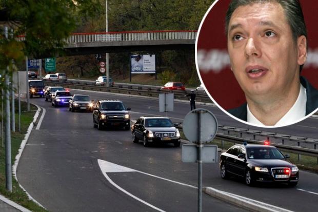 Vučić doživio udes, nije povrijeđen
