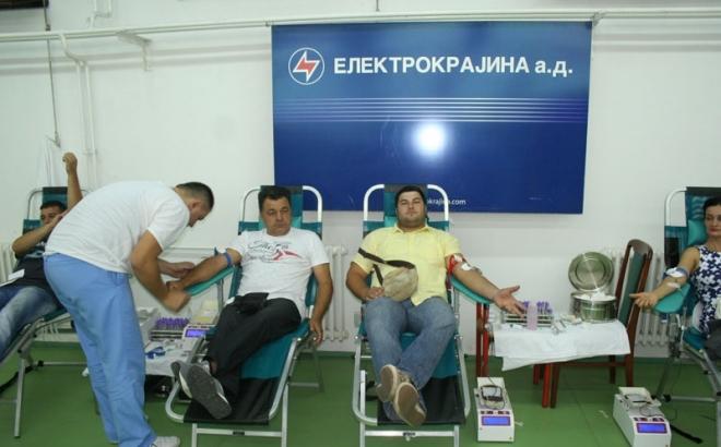 """Radnici """"Elektrokrajine"""" darovali 140 doza krvi"""