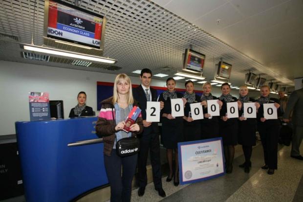 Er Srbija prevezla dva miliona putnika u 2014.