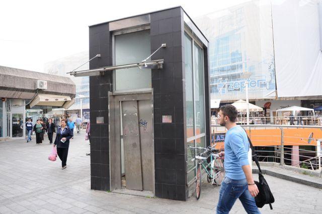 Lift na Trgu Krajine biće popravljen do početka 2015.