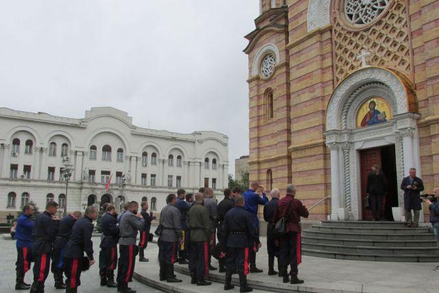 Banjaluka: Ruski kozaci posjetili Hram Hrista Spasitelja (FOTO)