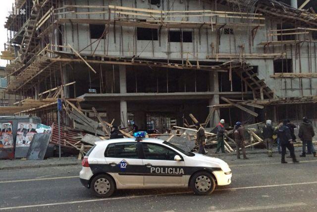 Sarajevo: Srušila se skela na zgradi, dvije osobe poginule (VIDEO)