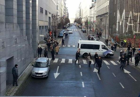 Evakuisana zgrada Evropskog parlamenta