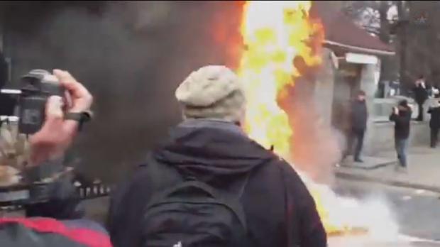 Kijev: Zapaljeno ministarstvo odbrane