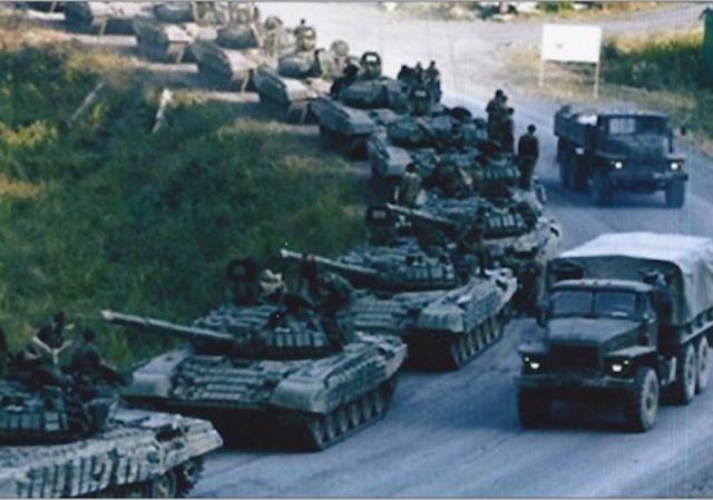 Slike ruskih tenkova u Ukrajini stare 7 godina?