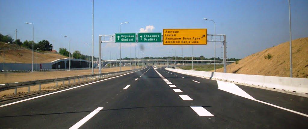 Naplata putarine na dijelu autoputa Banjaluka-Gradiška od ponedjeljka