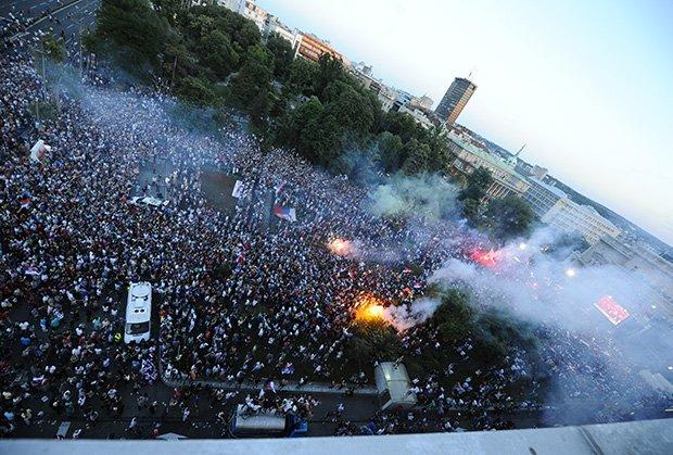 Srbija dočekala  šampione svijeta (FOTO, VIDEO)