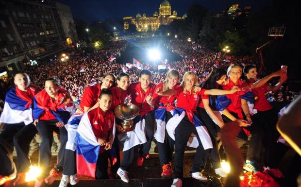 Stigle kraljice: Srbija dočekala šampionke Evrope
