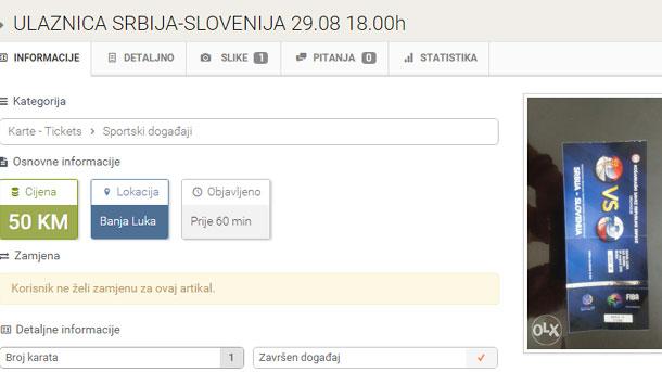 Karte za utakmicu u Boriku dostigle cijenu od 120 KM