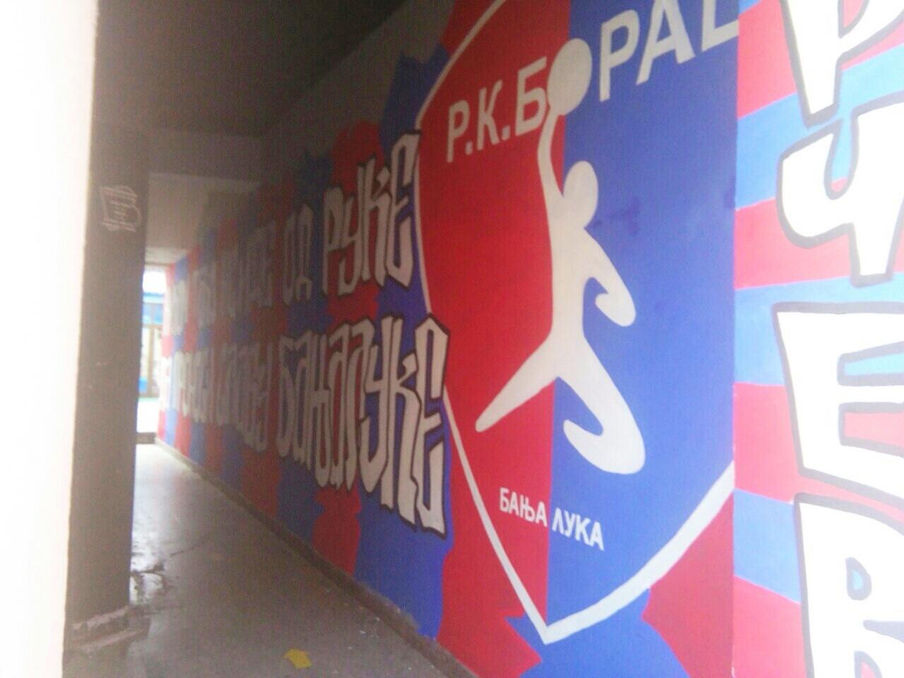 Grafit u Gospodskoj: U slavu RK Borac