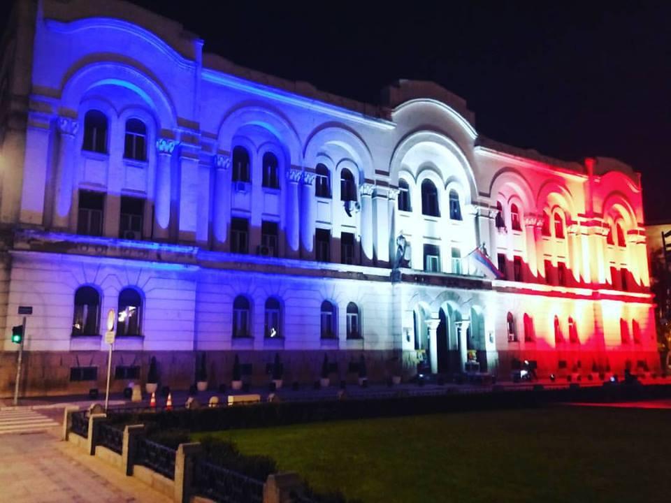 Znak solidarnosti: Banski dvor večeras u bojama francuske zastave