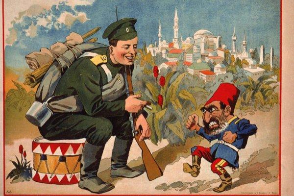 """MALI TURČIN I VELIKI RUS Ruska ambasada """"rasističkim"""" posterom ponižava Tursku"""