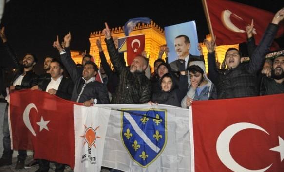 Sarajevo proslavilo pobjedu Erdoganove stranke