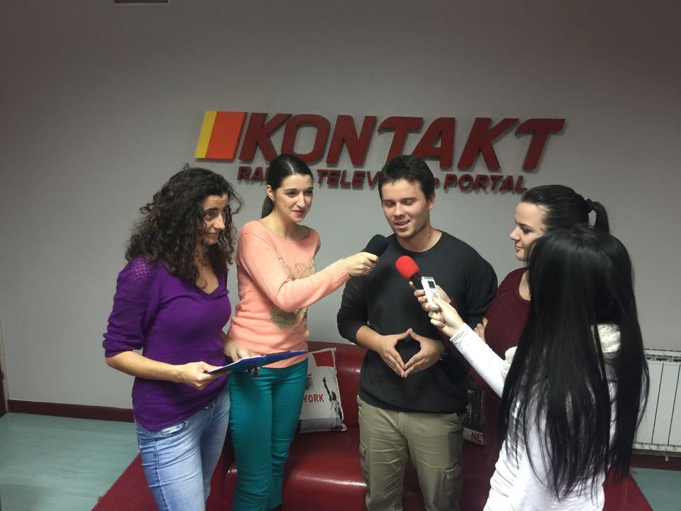 Studenti na praksi na RTV Kontakt