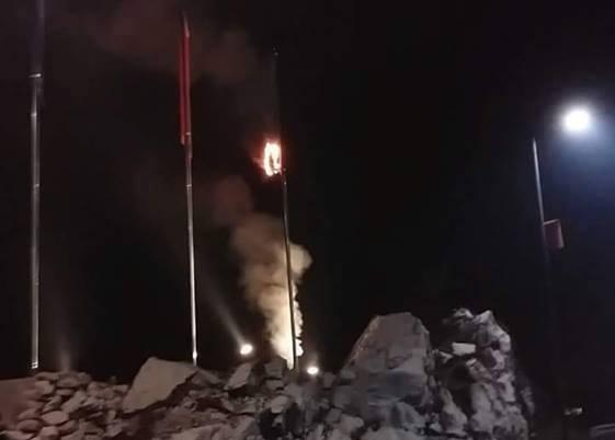 CRNA GORA: Zapaljena zastava NATO-a na Cetinju (VIDEO)
