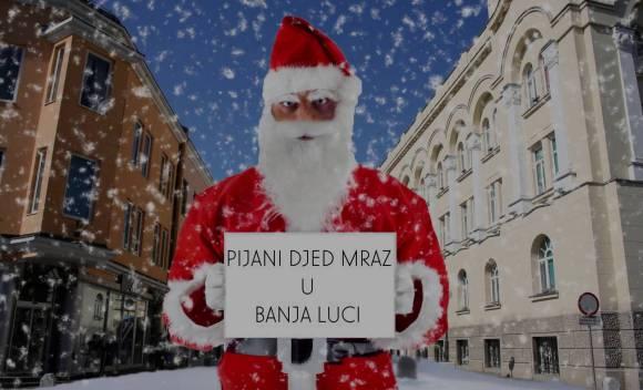 Pijani Deda Mraz teturao kroz Gospodsku