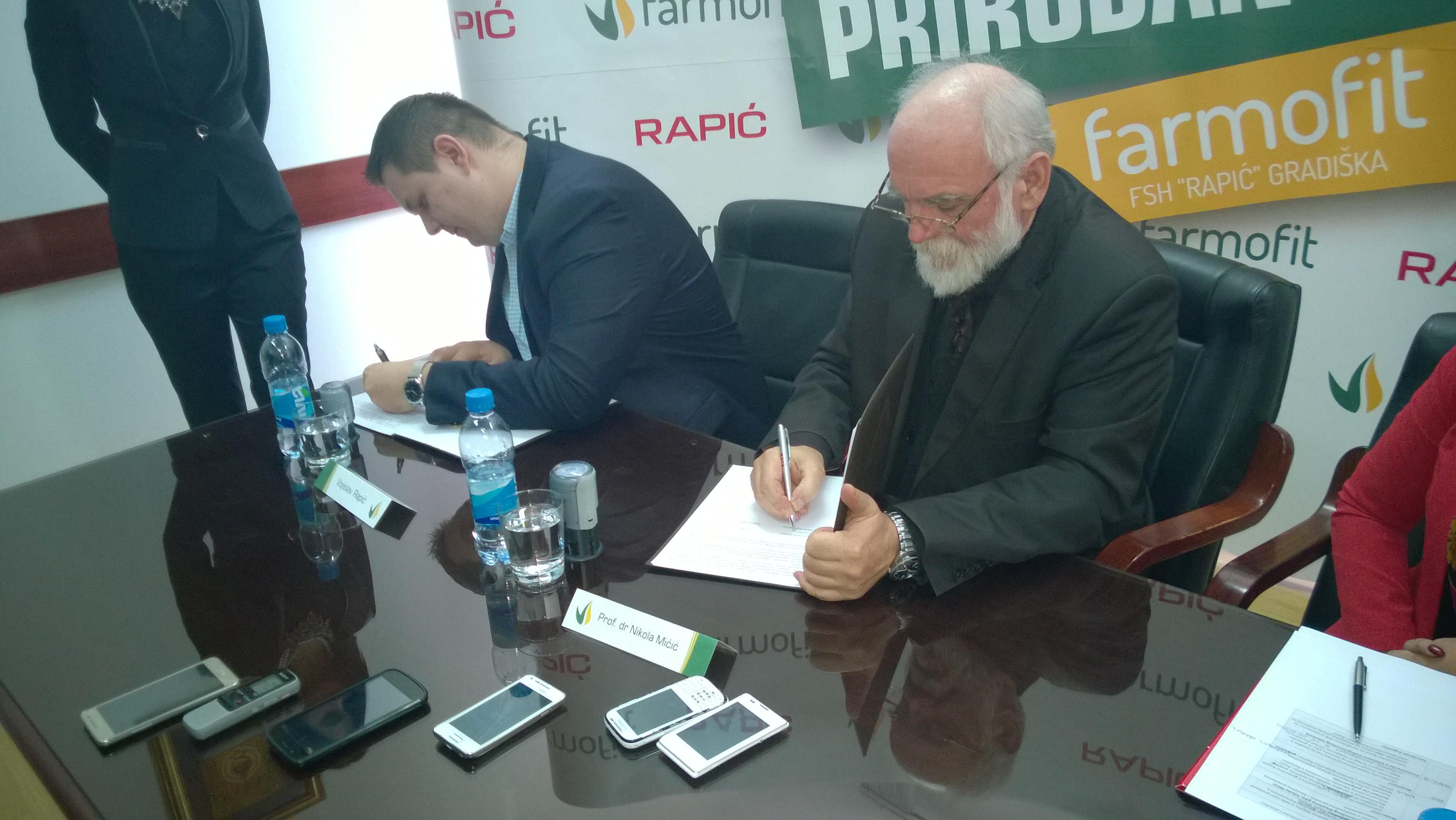 Potpisan memorandum o saradnji kompanije Rapić i Poljoprivrednog fakulteta