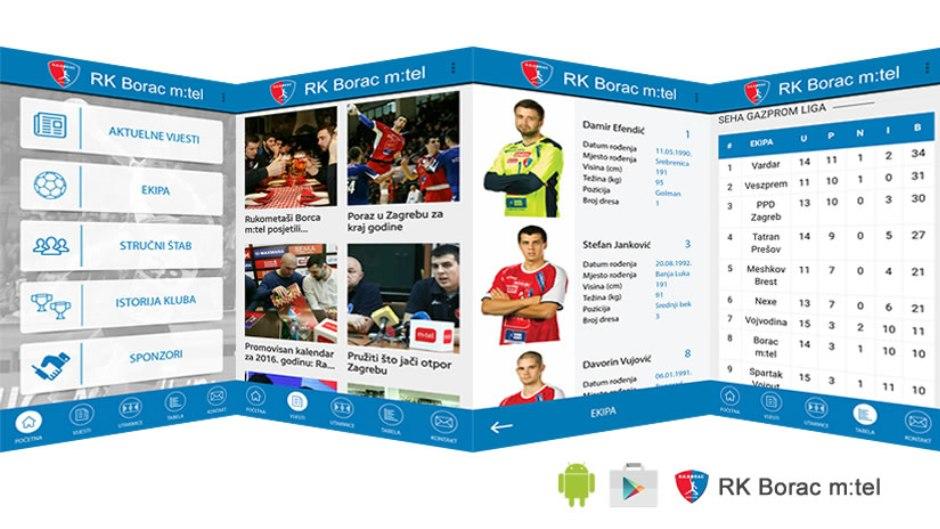 RK Borac promovisao android aplikaciju