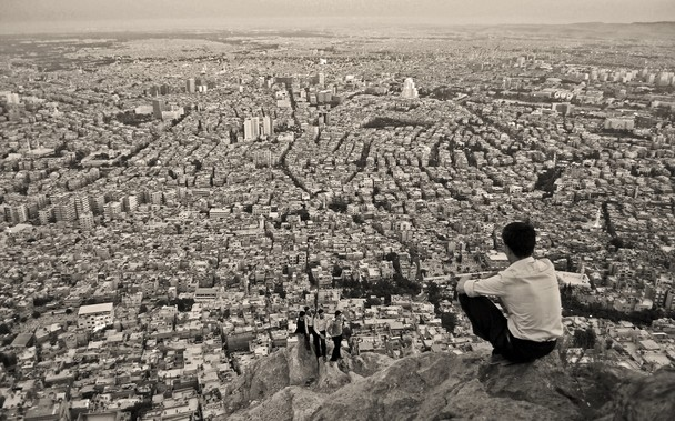 Razoreni Damask (snimak iz drona)