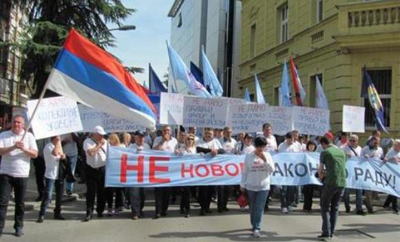 Protest Saveza sindikata zbog novog Zakona o radu