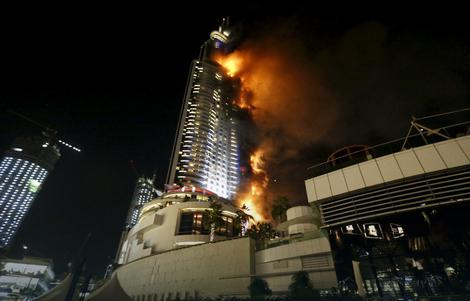 Pogledajte stravičan snimak požara u hotelu u Dubaiju