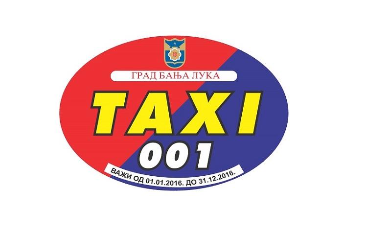 Crveno-plavi grad: Ovo je nova naljepnica za banjalučke taksiste