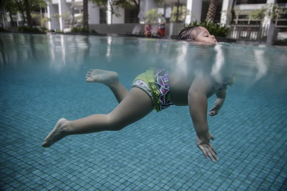 Kiara ima tek 23 mjeseca, a već je postavila rekord u plivanju