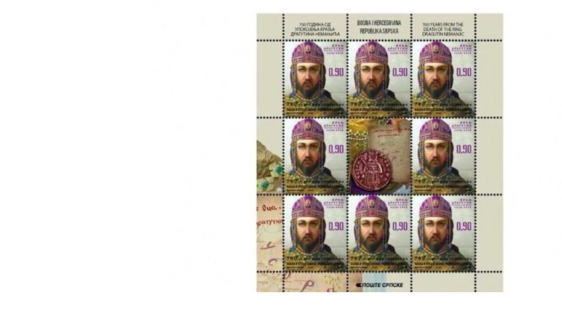 Pošte Srpske izdale markicu sa likom kralja Dragutina