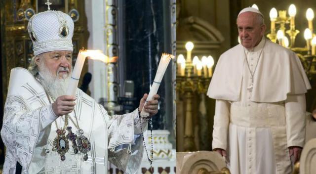 Patrijarh Kiril i papa poptisuju deklaraciju