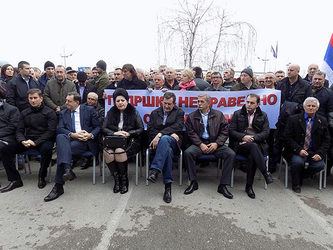Bijeljina: Sabor podrške Pavloviću i radnicima banke